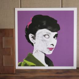 Illustration Audrey Hepburn chez chromosome a lille