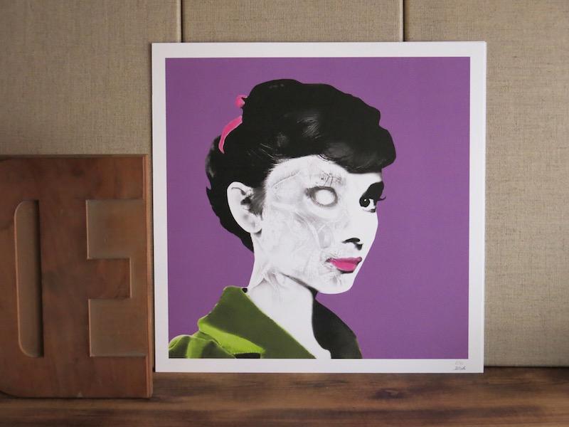 Illustration Audrey Hepburn chez chromosome a lille